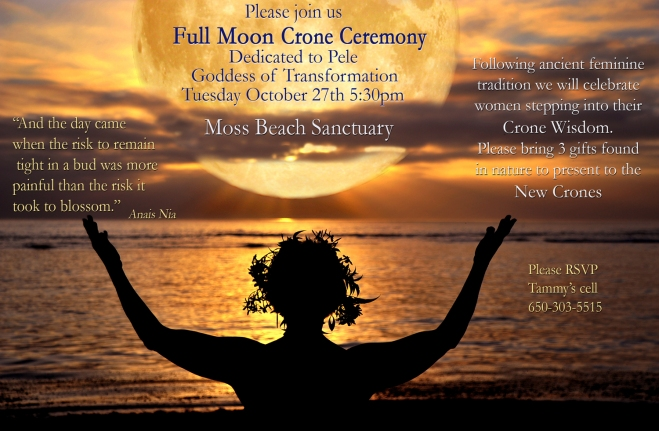 Full moon Crone Ceremony 2015